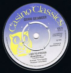 Gerri Granger I Go To Pieces (Everytime) Reparata & The Delrons Panic James & Bobby Purify Shake A Tail Feather Casino Classics